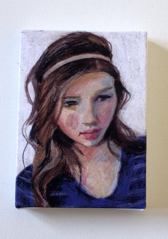 Marlene / tiny canvas  print