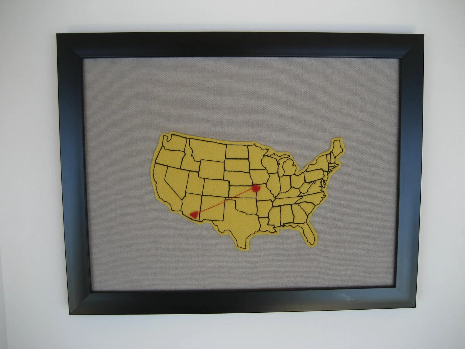 Embroidered Heartstrings Map by FelixStreetStudio