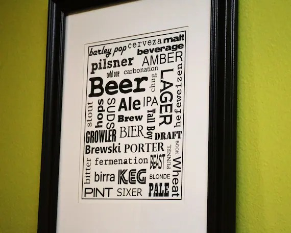 Beer Lovers - Collage Print