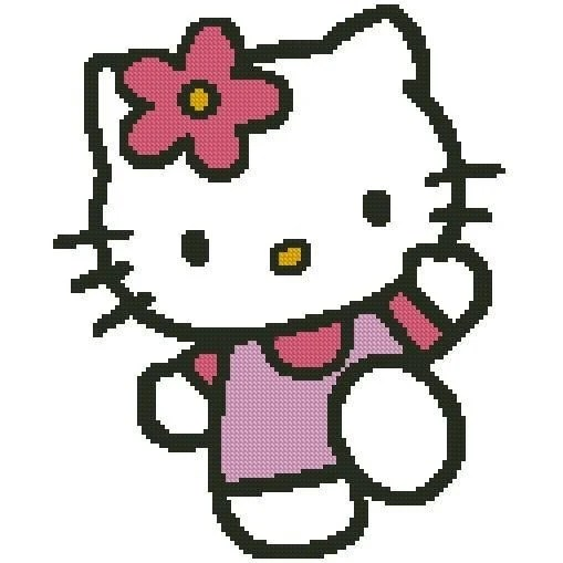 HELLO KITTY CROSS STITCH PATTERN - PDF FORMAT