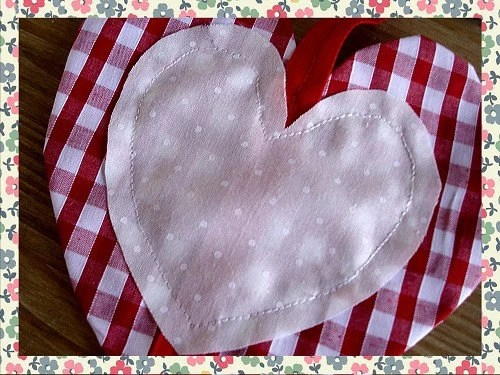 Shabby Chic Decorative Hanging Love Heart Pendent