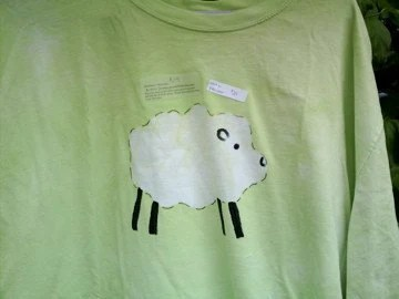 Batik Sheep t-shirt Bright Yellow-Green XL
