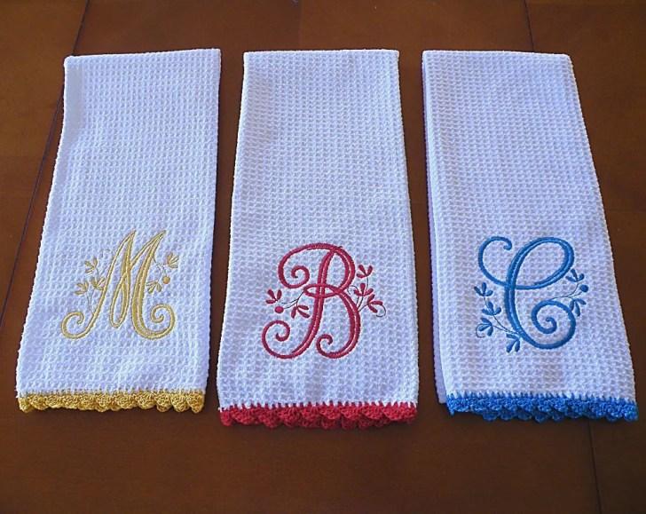 Kitchen Monogrammed Towel Design Photos