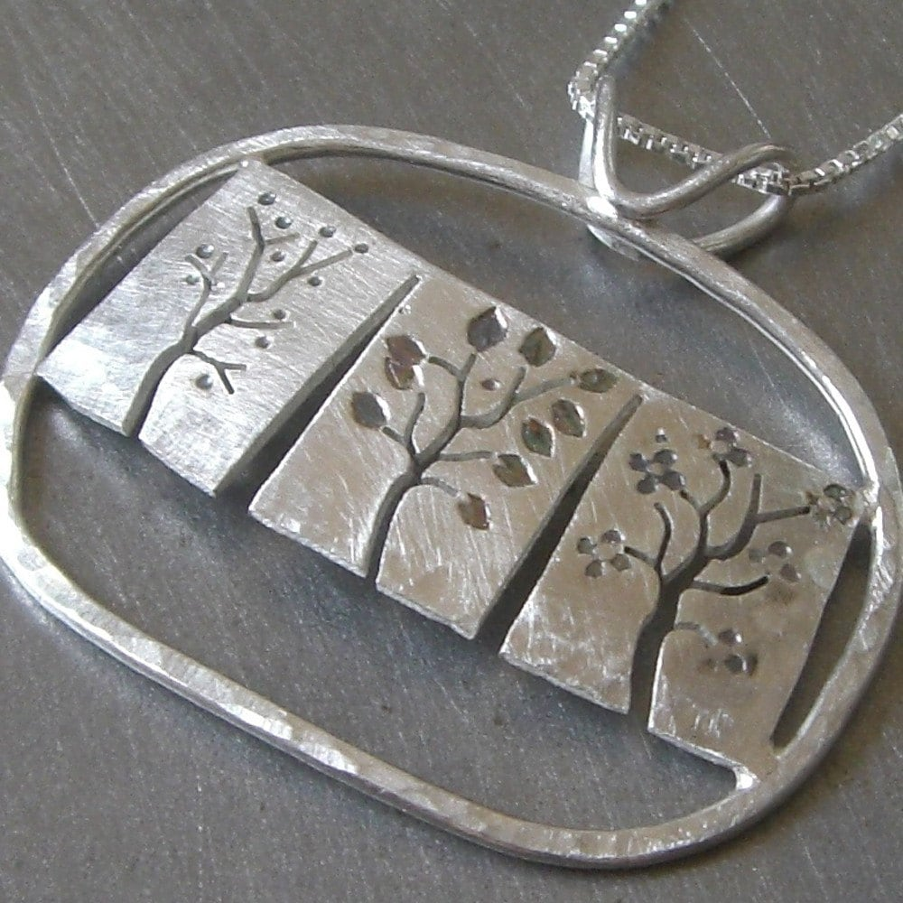 Reversible Three Seasons Necklace (front) by Beth Millner