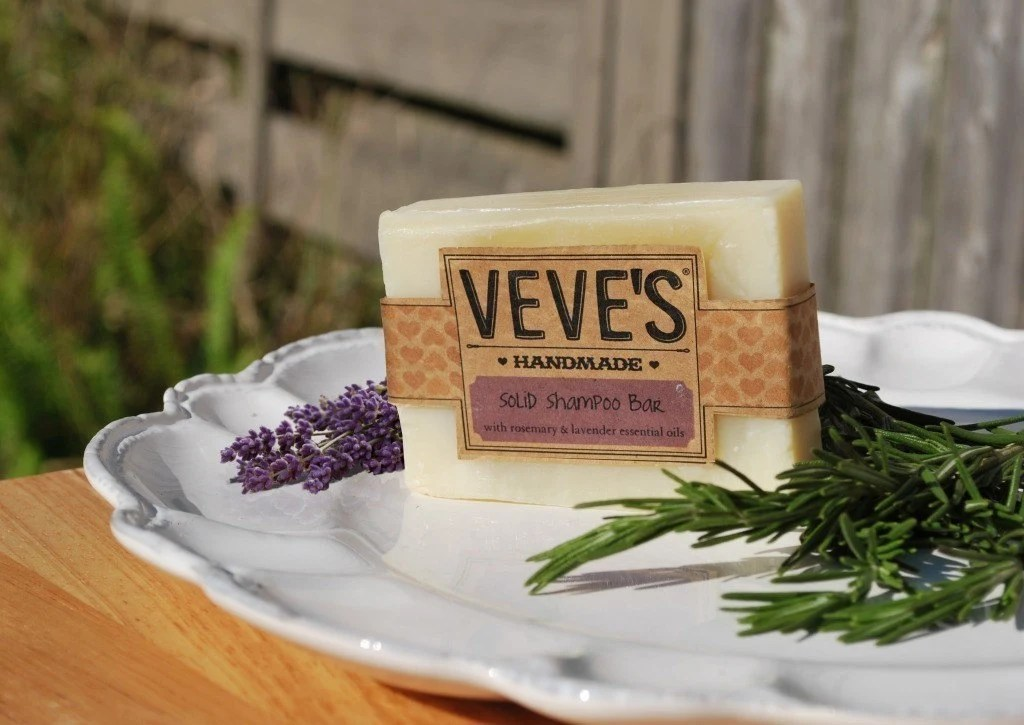 Rosemary and Lavender Solid Shampoo Bar by Veve's Handmade