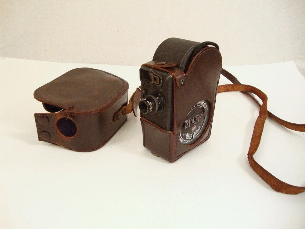 Vintage Bell and Howell Filmo Double Run Eight Camera, 1930s