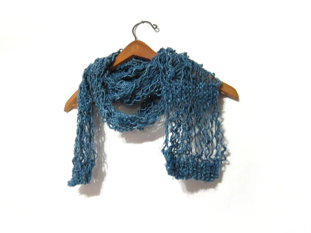 Summer scarf made out of eco-friendly renewable resource vegan friendly banana fiber by Impossibly Alice on Etsy