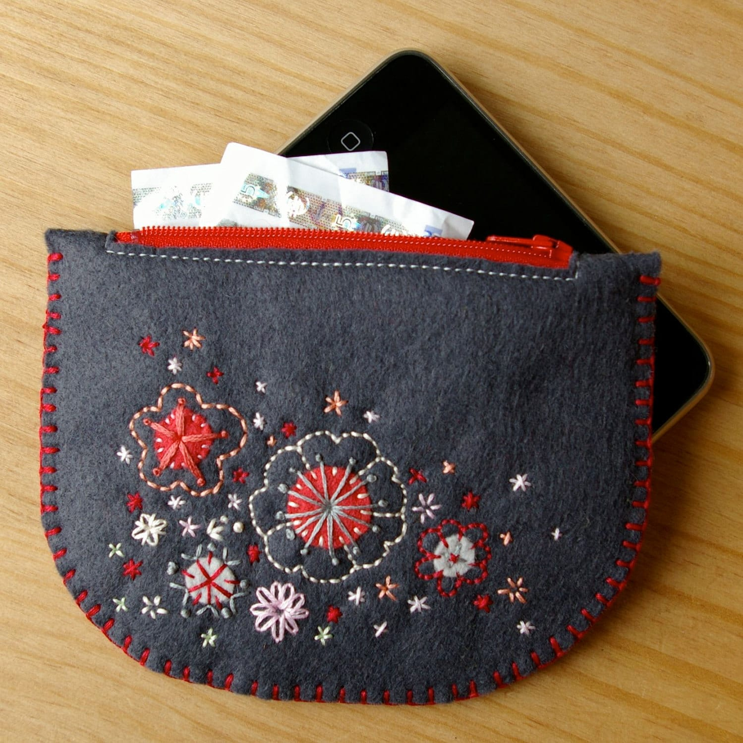 Wool Felt Clutch by LoftFullofGoodies