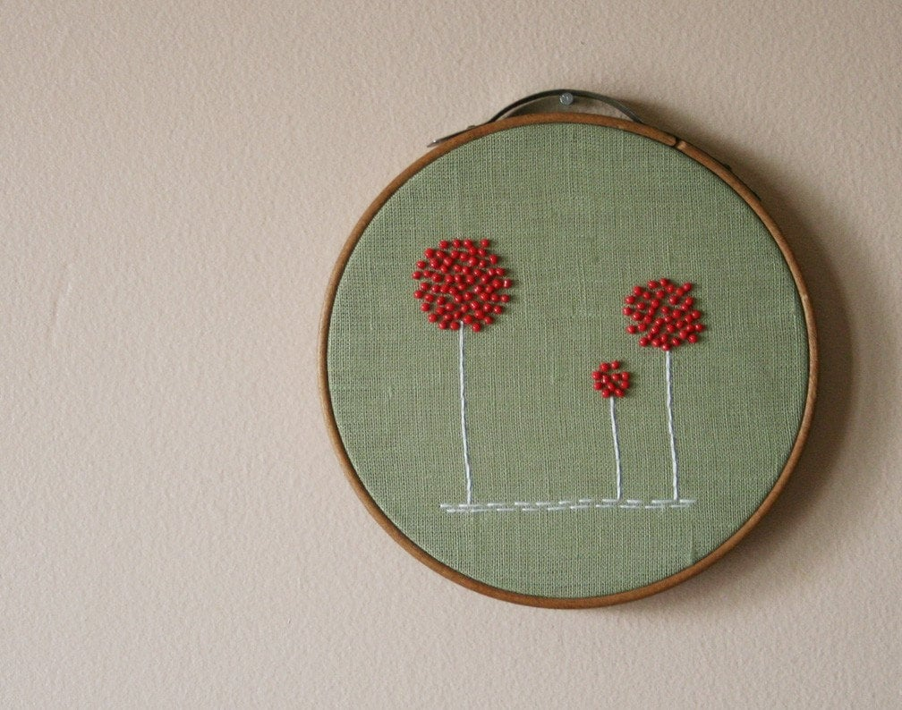 Red Poppy Wall Hanging