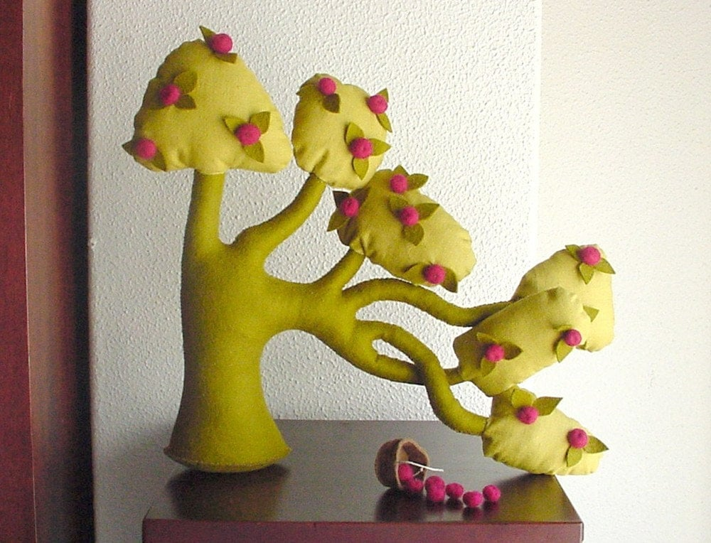 Tree of the wind - Apple tree - Felt tree