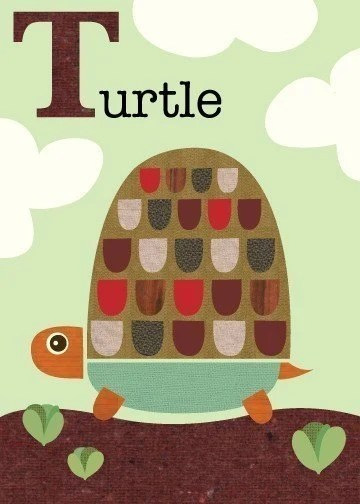 Letter T for Turtle print from Jen Ski on Etsy