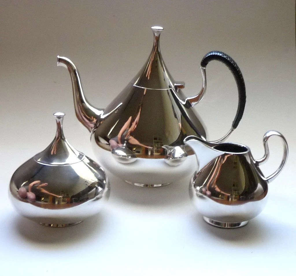 1960s John Prip for Reed and Barton Dimension Silver Plate Coffee Set