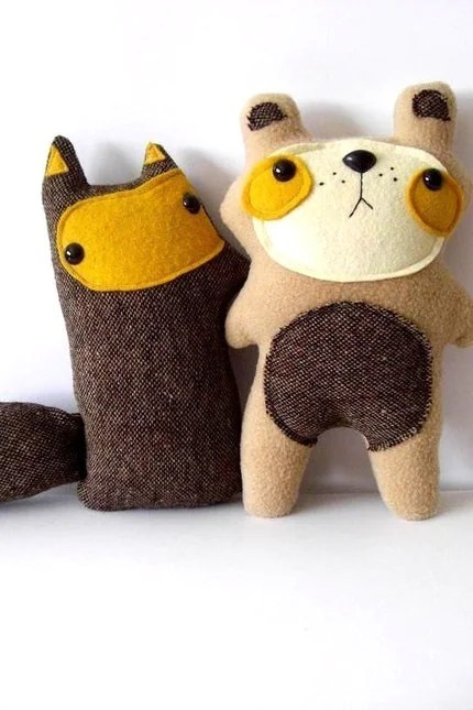 Butterscotch Tweed Fox - Made to order