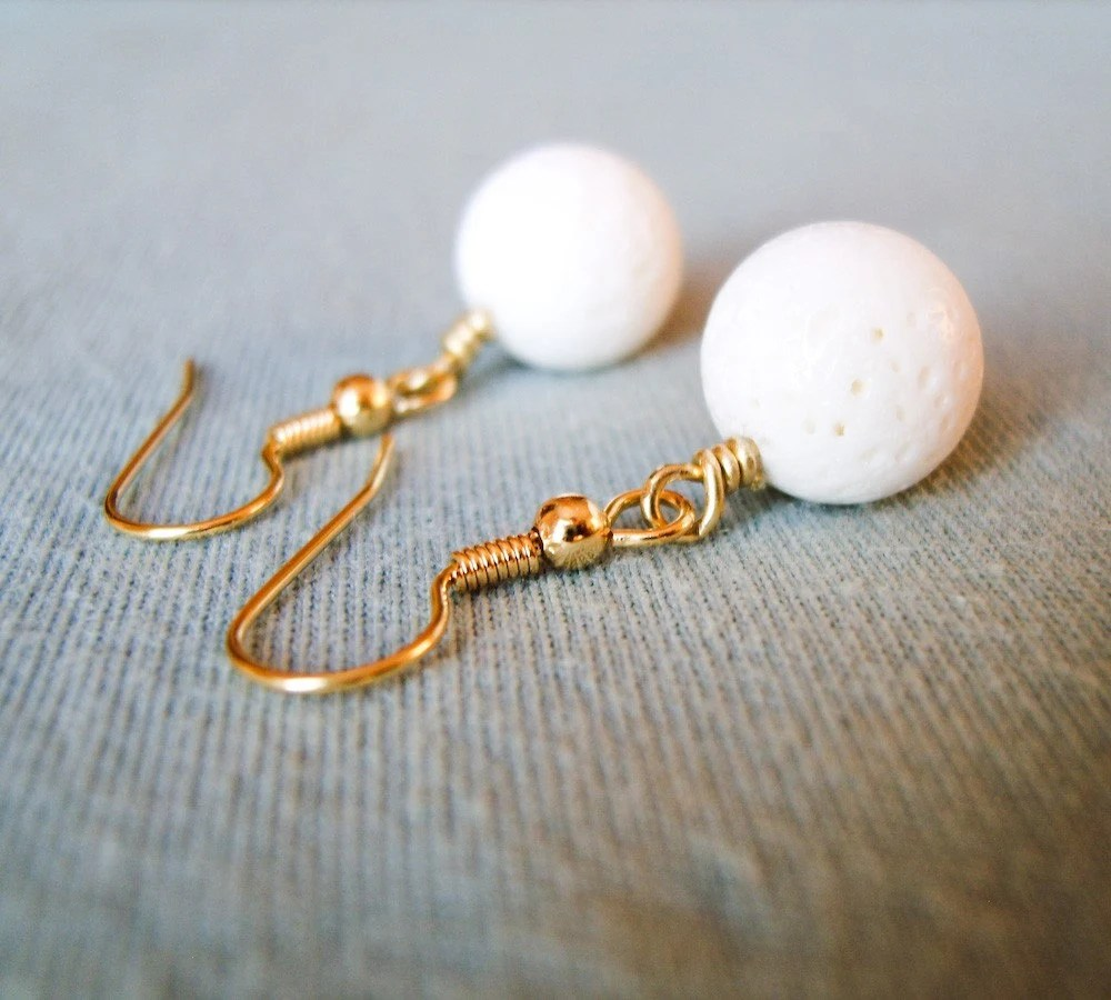 Snowballs - White Natural Coral Earrings - OOAK  - DISCOUNTS
