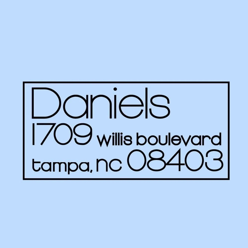 Address Stamp - Daniels