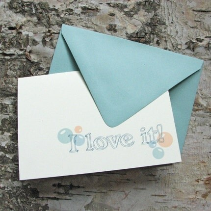 I LOVE IT Folded Greeting
