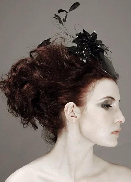Black Latex point hat