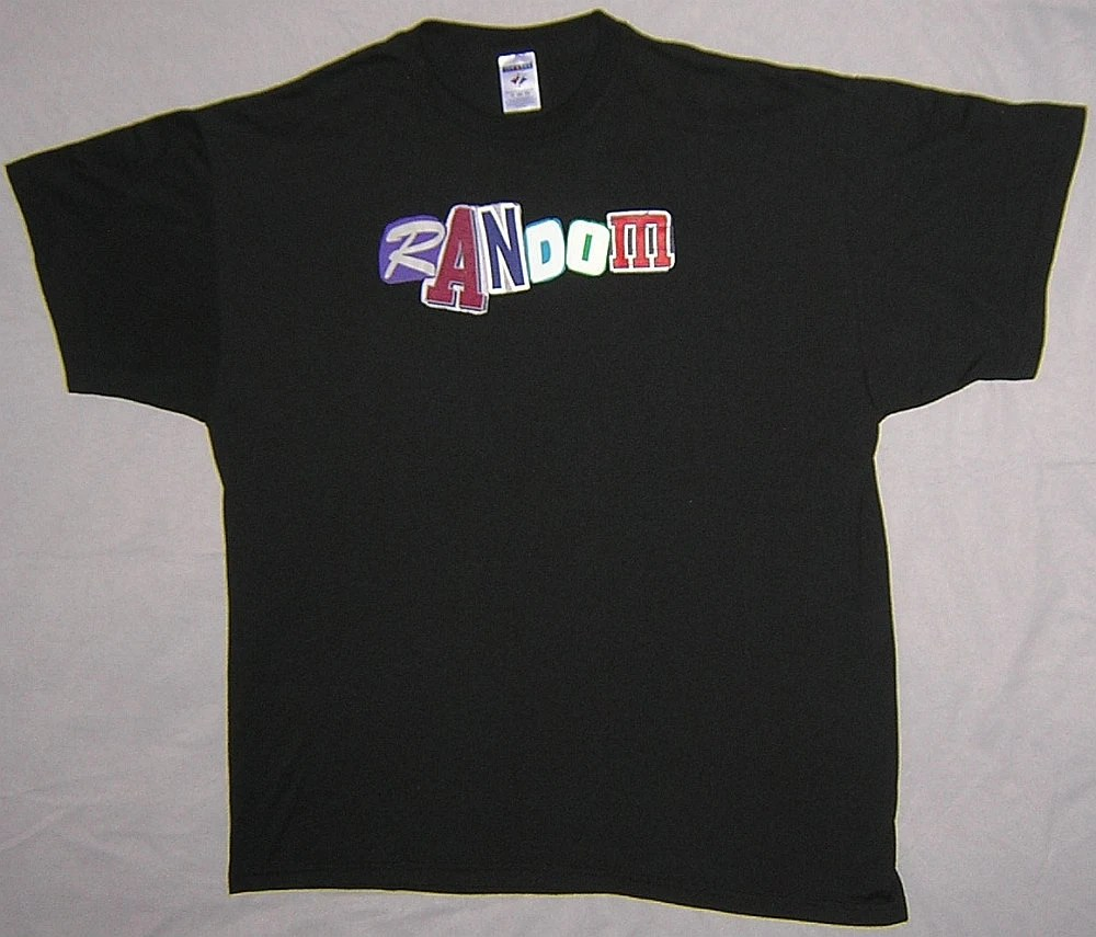 Custom Made To Order Wondiosyncra-Tees T-shirt - Your Choice of Word, Color, and Size - $20 - Example: Random
