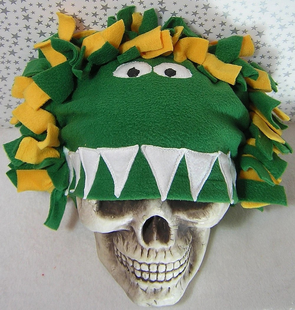 Monster Eating Your Head Fleece Hat by Rewondered D201H-00003 - $29.95