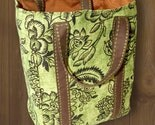 Reusable Shopping Bag in floral BIRCHAM GREEN CANVAS