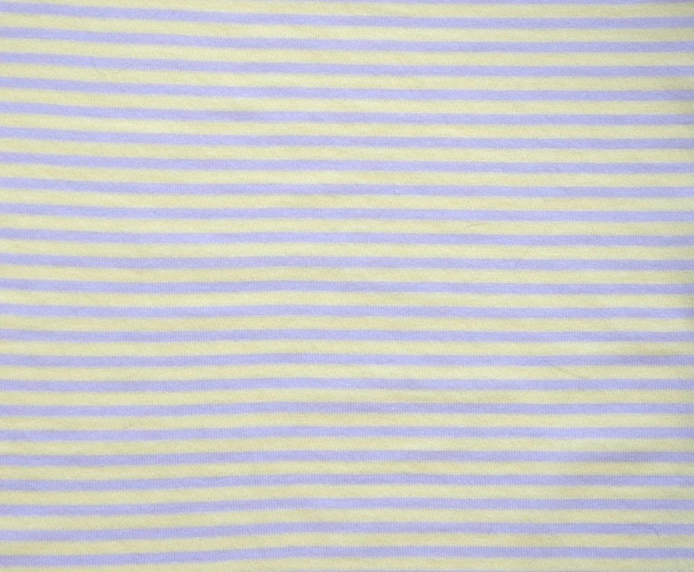 Organic Cotton Knit Jersey Fabric by the Yard in Lilac  Stripe