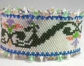 Hannah Rosner cuff bracelet bead pattern peyote stitch art nouveau