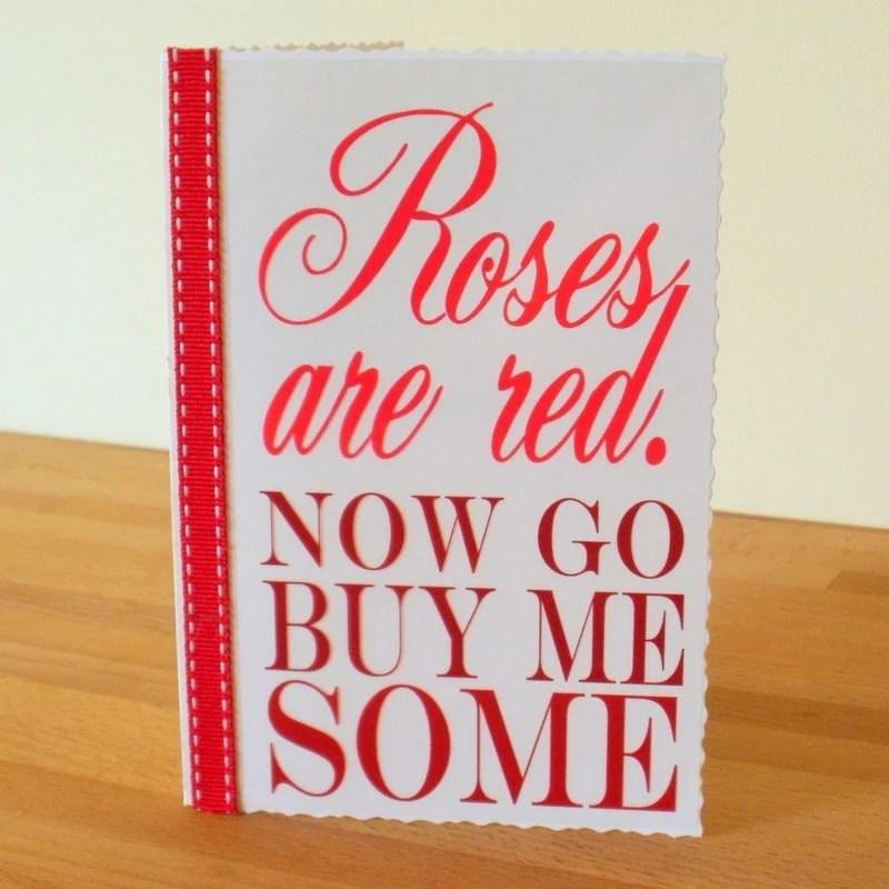 Straight talking valentines card