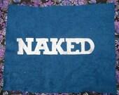 FREE -   Naked on Blue Velvet - Painting by NIK