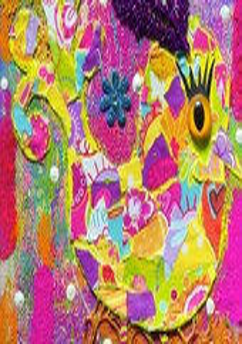 Patchwork Bird Giclee Print 5x7