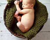 Moss Chunky Knit Mini Blankets  Jeweltones Available Great Photo Props