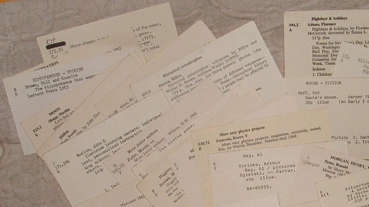 Library Catalog Cards Vintage Ephemera for Card Making, Scrapbooking, Altered Art, Decoupage Collage Pack Supply 40