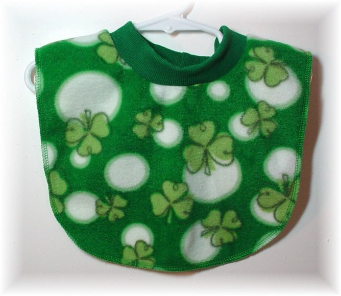 Pull Over Baby / Toddler Bib - Shamrock Print