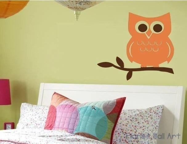 Owl on Branch   WALL DECAL