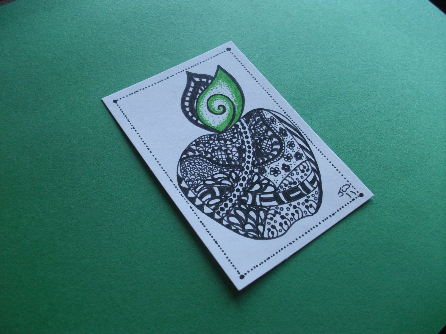 Apple Zendoodle, Original ACEO
