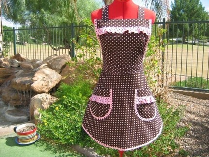 Chocolate Polka Dot - Sassy and Chic Apron