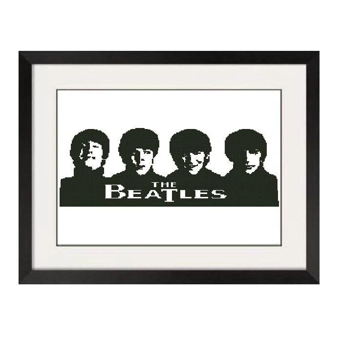 BEATLES CROSS STITCH PATTERN - PDF FORMAT