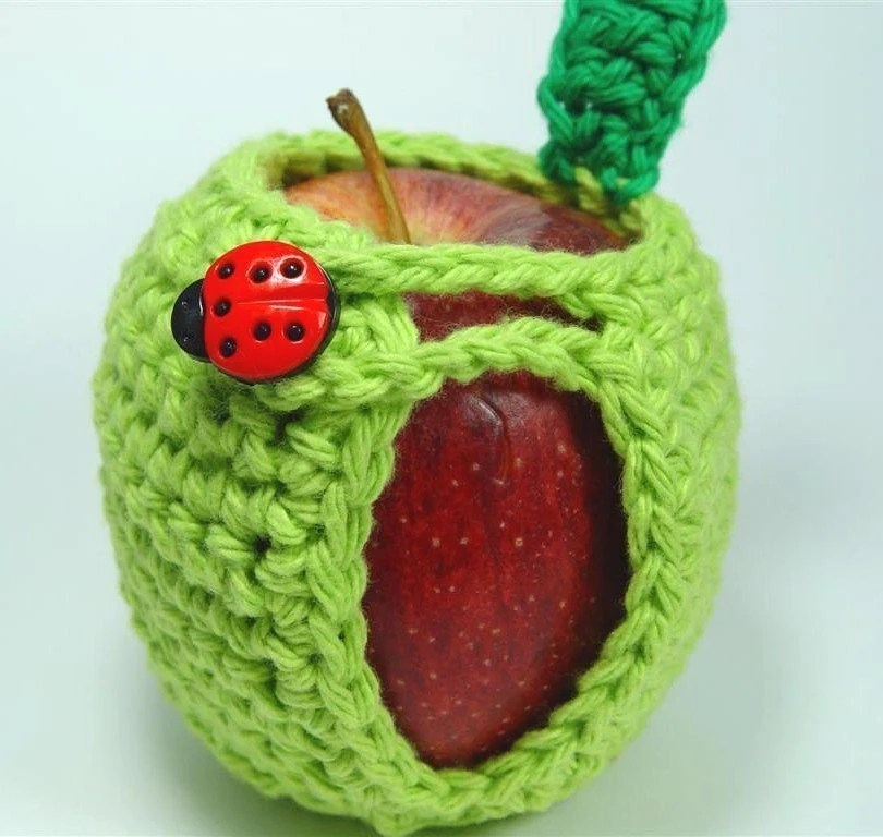 Hand-Crocheted Adorable Apple Cozy