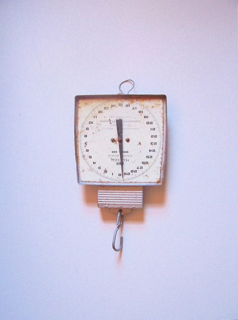 Large Vintage Metal Hanging Scale