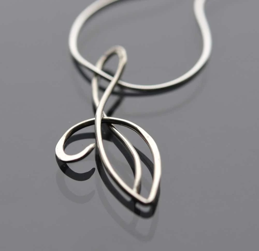 """Hand Forged Argentium Silver Pendant"""""""