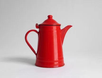 Bright Enamel Teapot