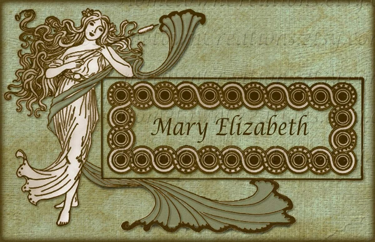 Bookplate - Personalized - LovelyLady-GreenCanvas
