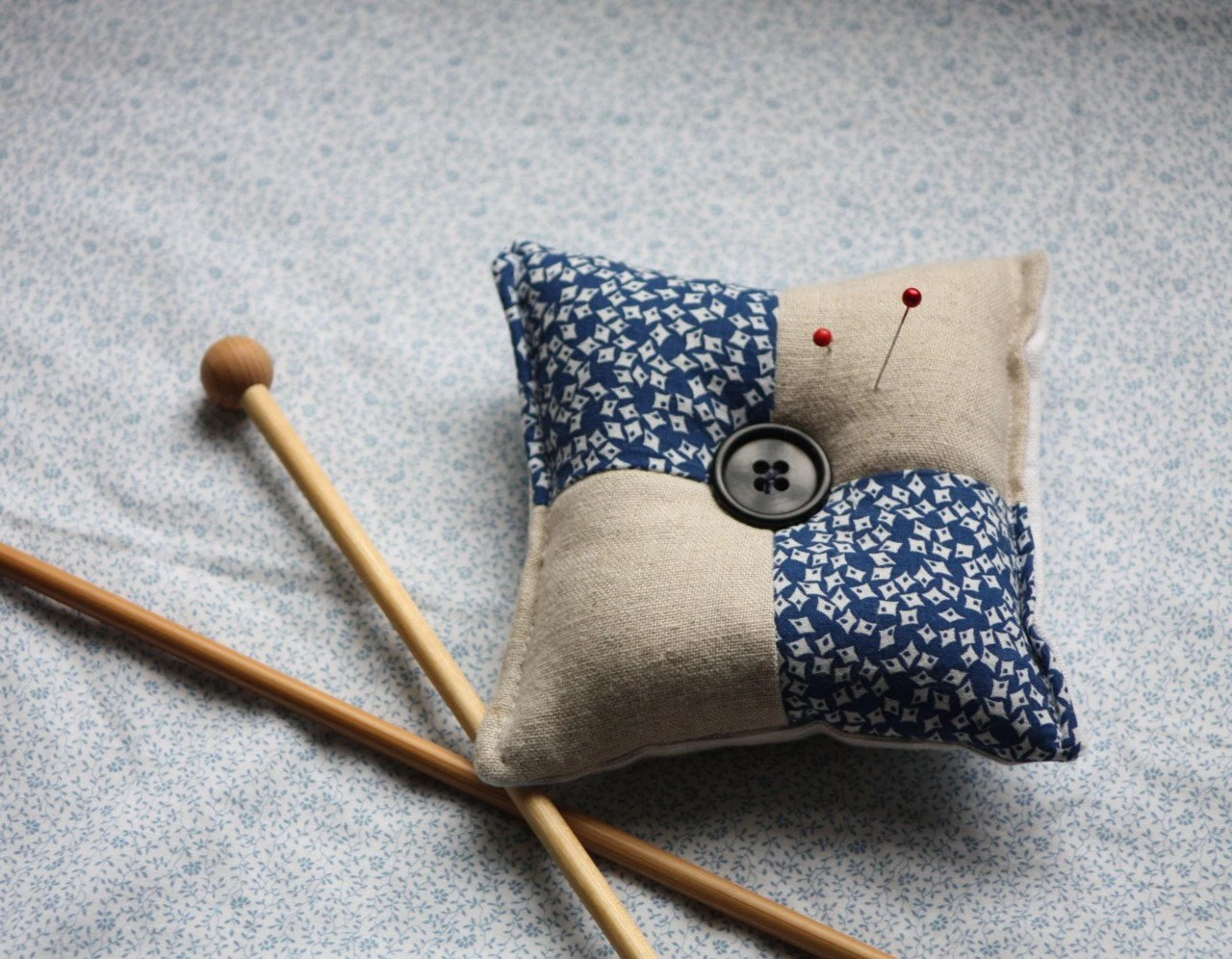 little linen pincushion