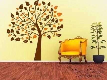 Two Color 6 Foot Nursery Tree Vinyl Wall Decal