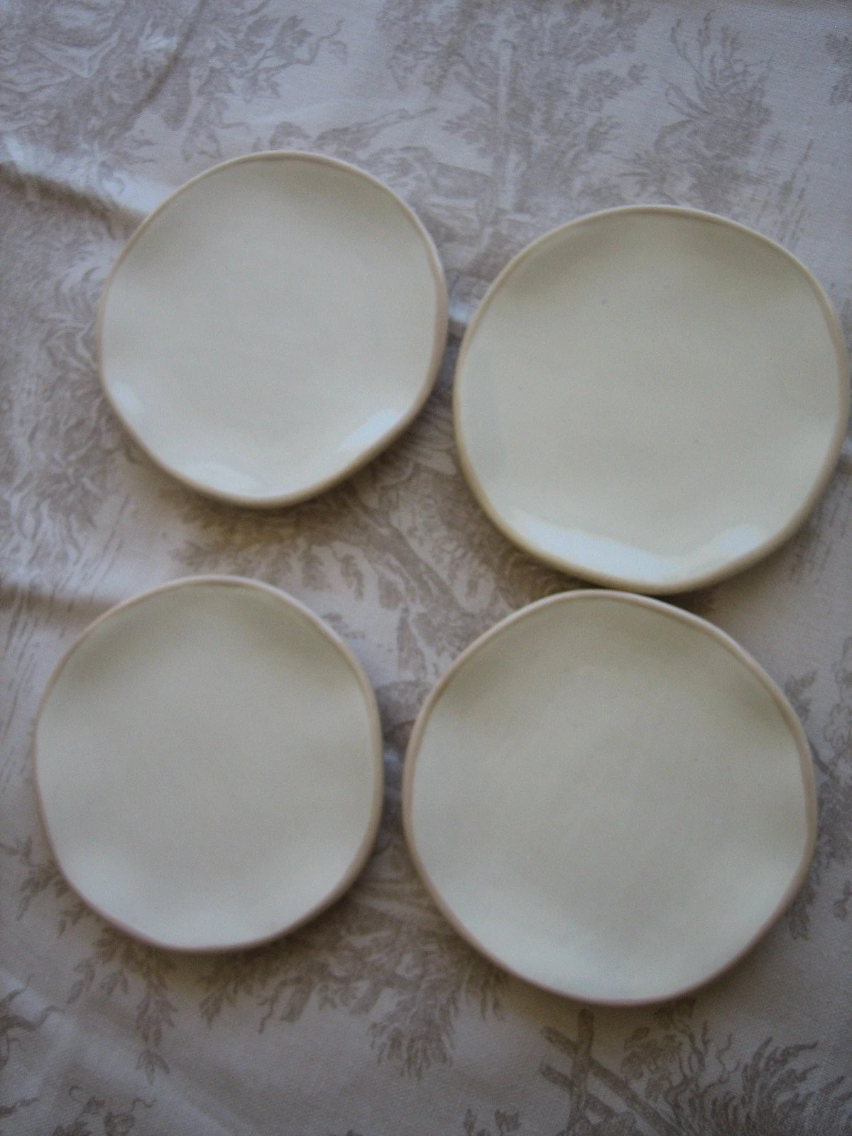 Set of Four Appetizer Plates from the JunkMarket