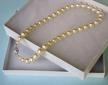 Chunky Pearl Choker in  Swarovski Ivory or White