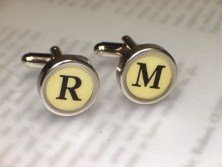 Typewriter Key Cufflinks - Design Your Own