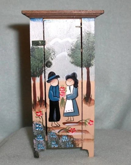 NEW UNIQUE HAND PAINTED MINIATURE PANTRY