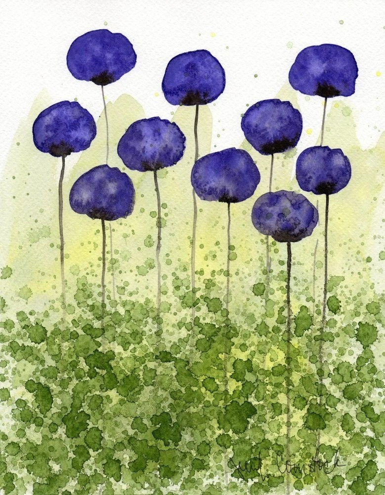 Sweet Memories -- Purple Flowers -- Giclee Print 8x10