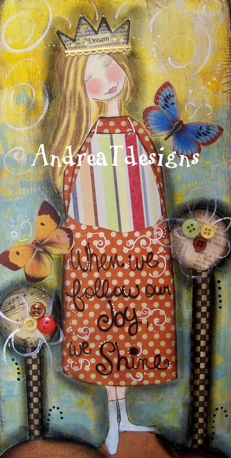 DREAM mixed media collage painting INSPIRATIONAL ART