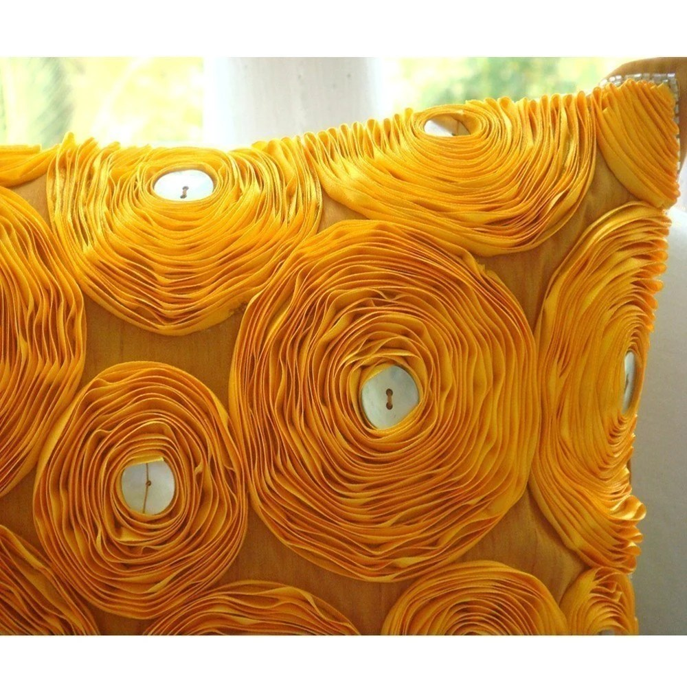 Marigolds - Throw Pillow Covers